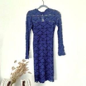 ALEXIS Cobalt Blue Long Sleeve Dress